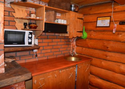 Мини-кухня на первом этаже