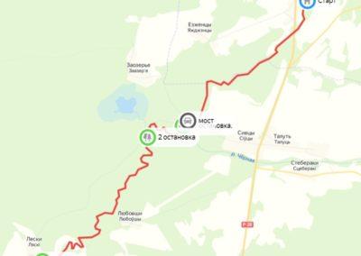 Схематичная карта нашего стандартного маршрута