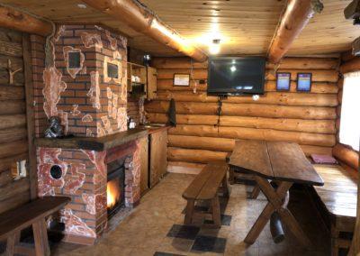 Гостевой домик. Камин с мини-кухней.